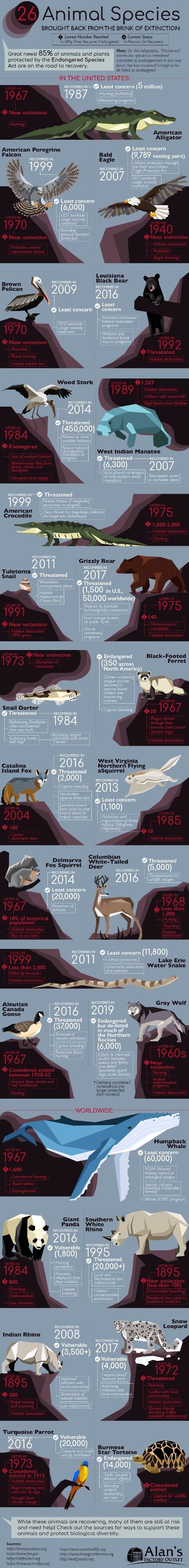 26 Animal Species