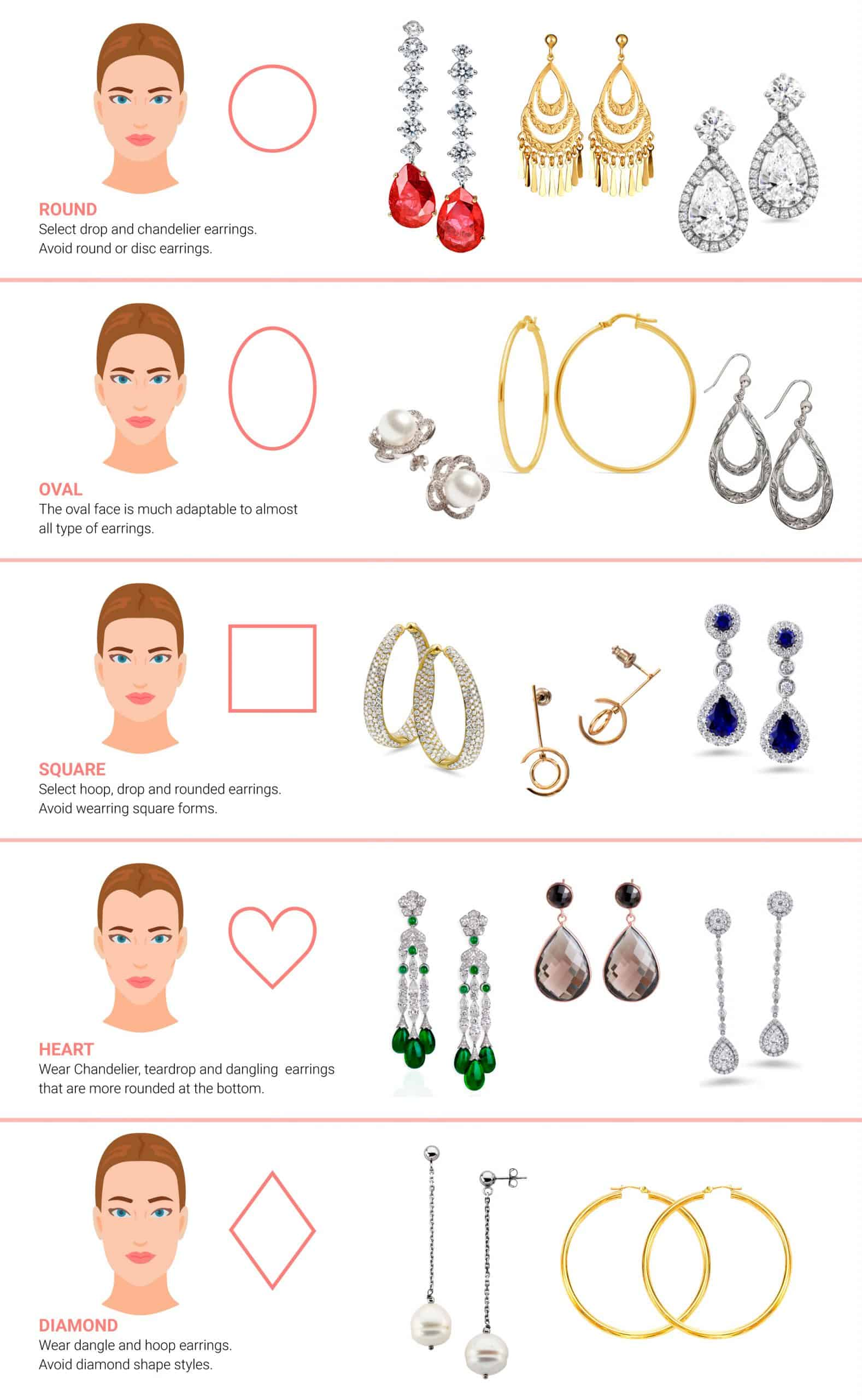 How to choose perfect earrings model for your face shape