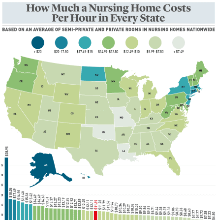 Do You Know How Much A Nursing Home Costs Per Hour in Your State infographic