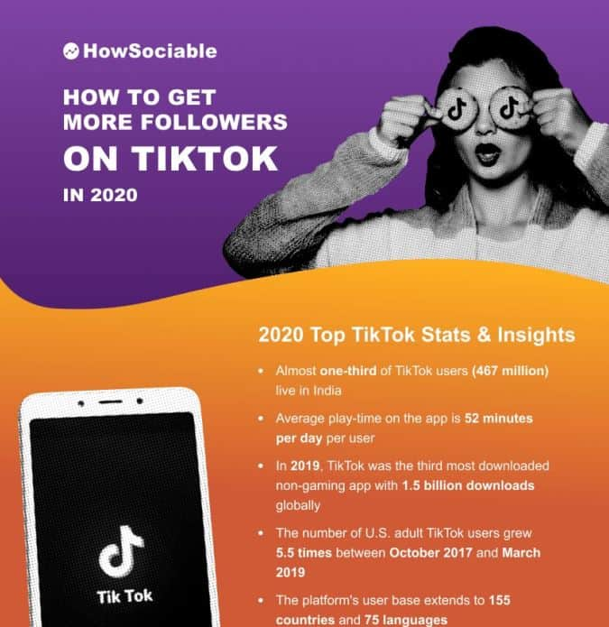 How to Get More Followers on TikTok infographic