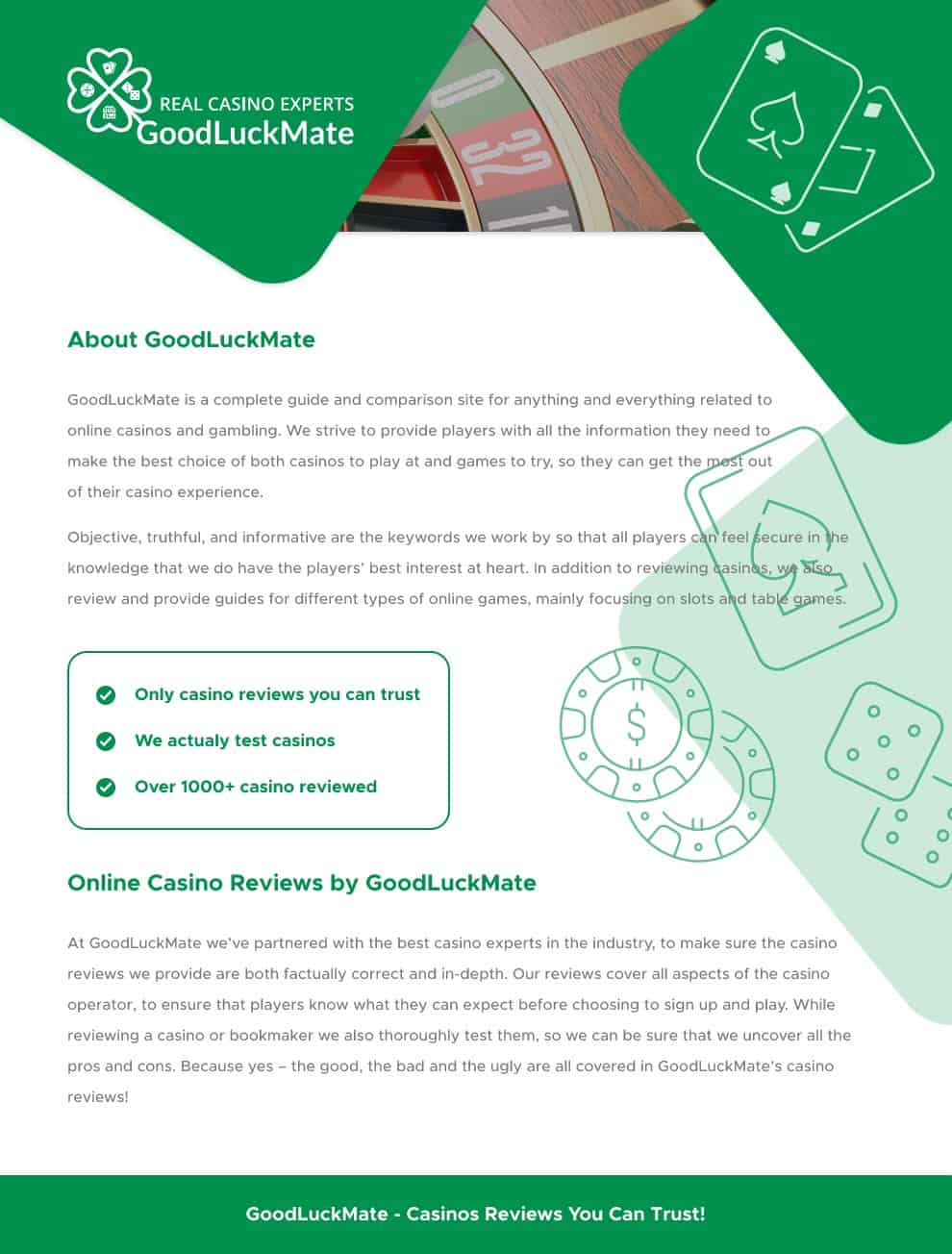 GoodLuckMate - New way to know your Online Casino