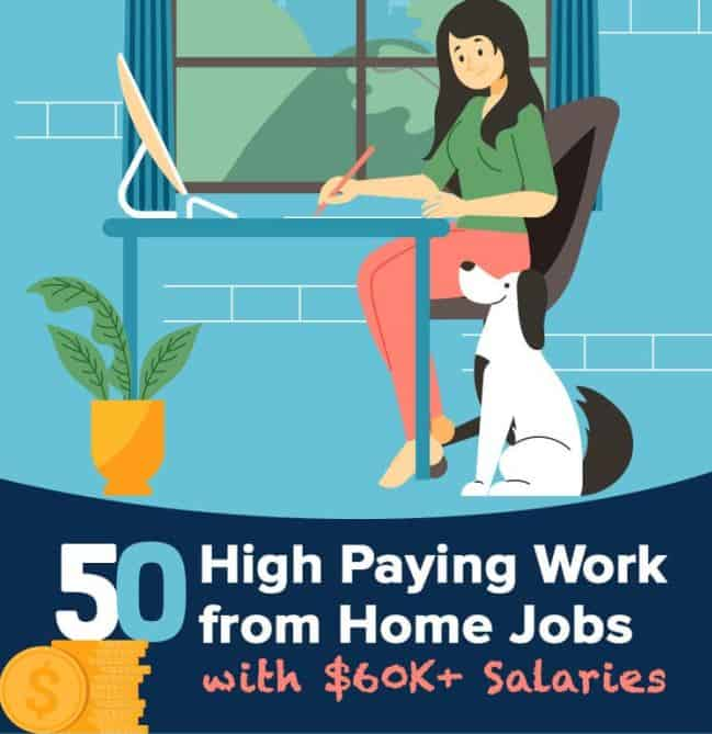 50 High Paying Work from Home Jobs infographic