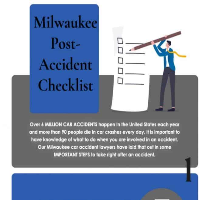 Milwaukee Post-Accident Checklist infographics
