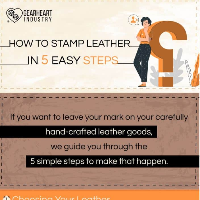 How To Stamp Leather With A Custom Stamp And A Mallet infographic