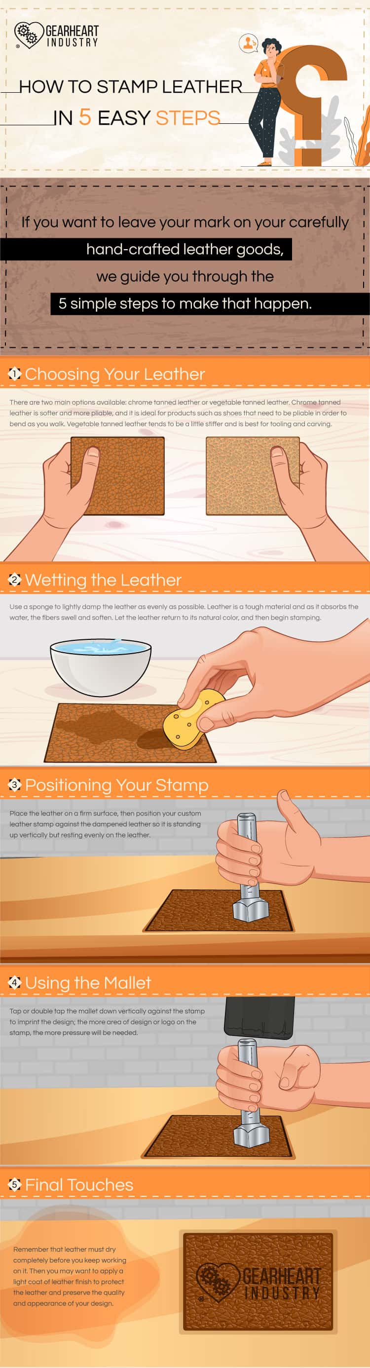 How To Stamp Leather With A Custom Stamp And A Mallet