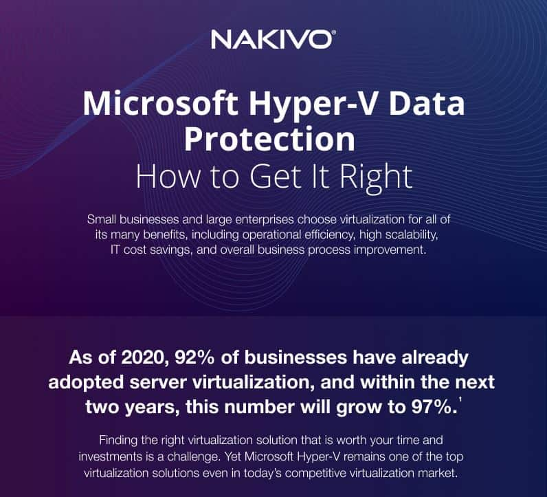 Microsoft Hyper V Data Protection Main Challenges and Solutions infographic
