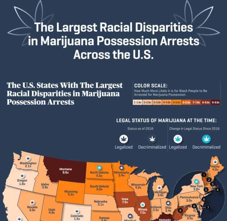 Racial Disparity Marijuana Arrests infographics