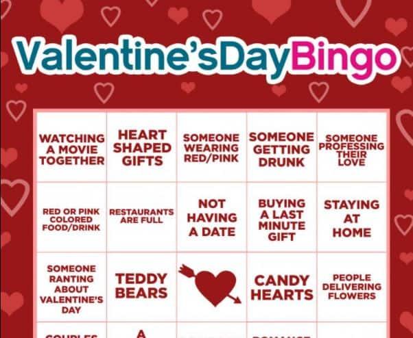 Valentines Day Bingo infographic