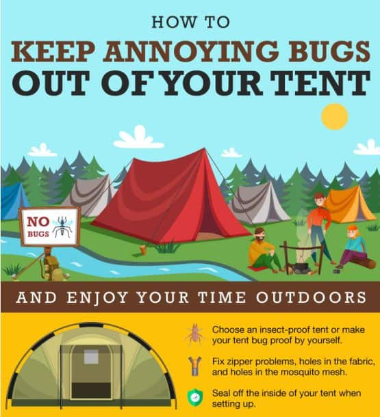 Keep Annoying Bugs Out Of Your Tent infographic