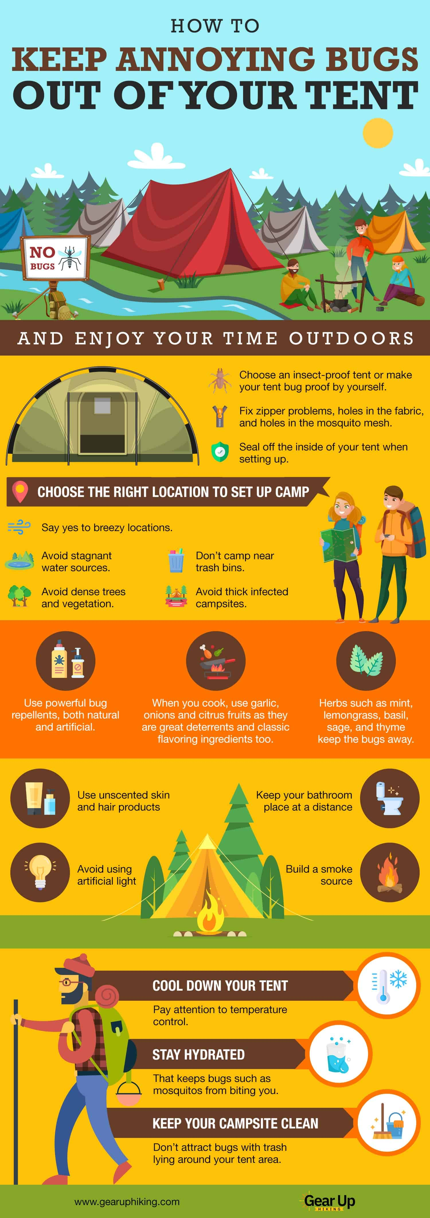 Keep Annoying Bugs Out Of Your Tent
