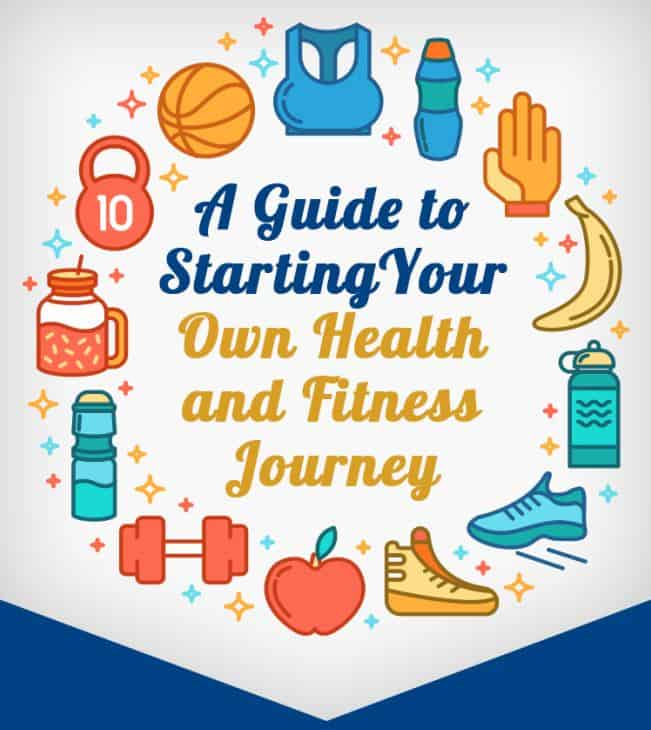 A guide to starting your own health and fitness journey infographic