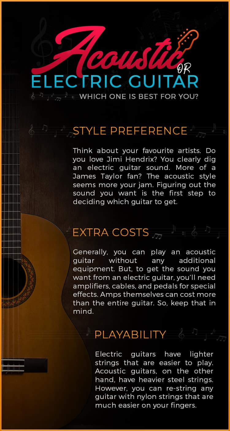 Acoustic or Electric Guitar Which One is Best for You
