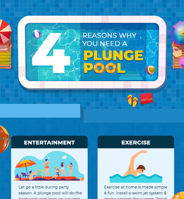 4 Reasons why you need a Plunge Pool infographic