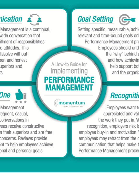 A How-to Guide for Implementing Performance Management infographic