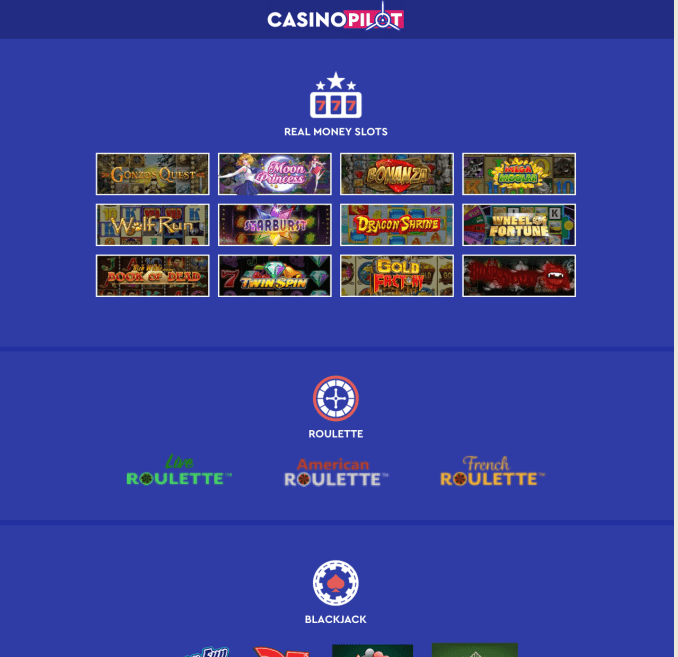 Games at real money casinos infographic