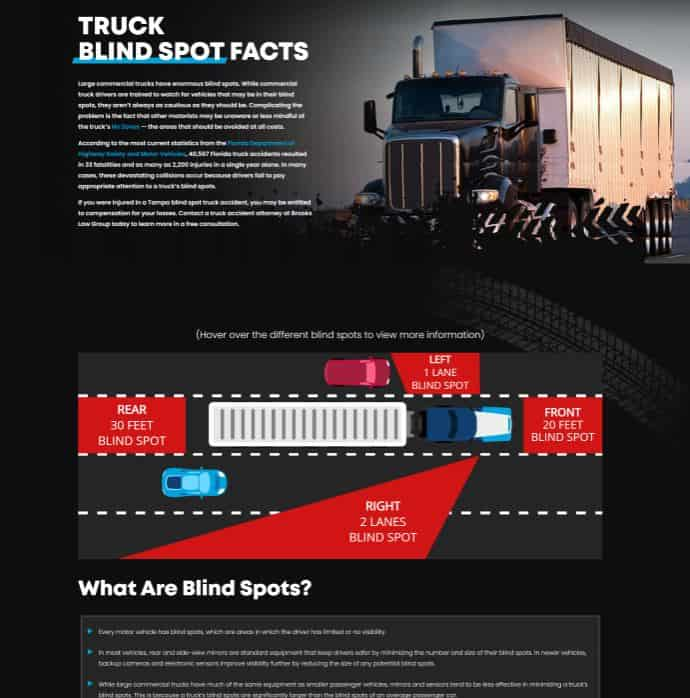 Top Facts About Semi-trailer Truck Blind Spots to Keep You Safe on the Road infographic