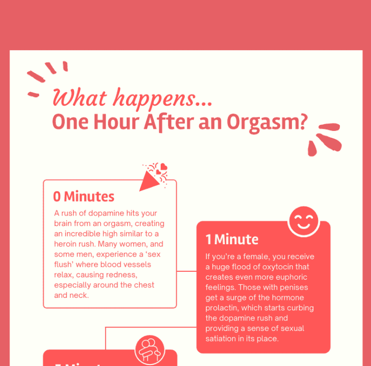 What Happens One Hour After an Orgasm infographic