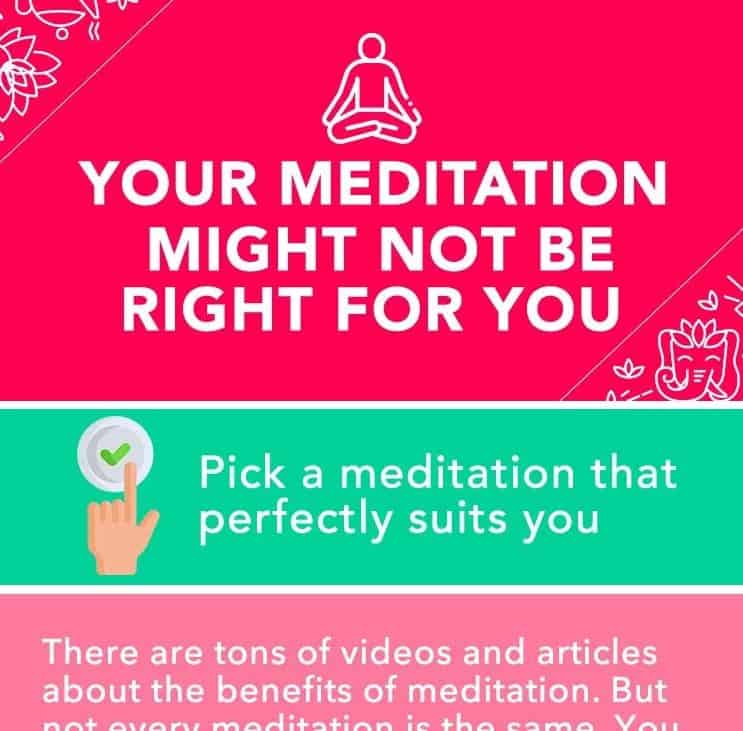 Your meditation might not be right for you infographic