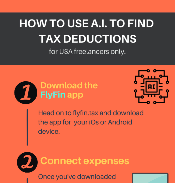 Can A.I. find tax deductions for freelancers automatically infographic