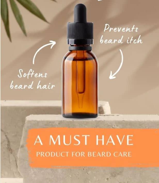 Beard Oil Benefits infographic