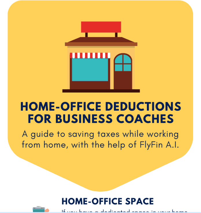 Home Office Deductions for Business coaches infographic